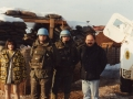 With UNPROFOR soldiers and cameraman George Papadopoulos, Sarajevo,1994