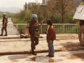 With UNPROFOR soldiers, Sarajevo, 1994