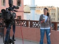 Live broadcast via videophone from Tripoli, Libya, 2011
