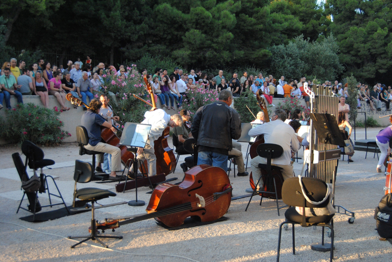 Open-air rehearsal of Madama Butterfly from the Greek National Opera Orchestra in 2013