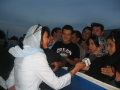 Interviewing youth at Azadi stadium in Tehran, Iran, 2006