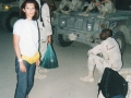 Preparing for a night patrol with american soldiers, Baghdad, 2003