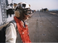 Reporting aboard US aircraft carrier Belleau Wood, Persian Gulf, 1998