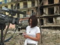 Reporting from Gori, Georgia, 2008