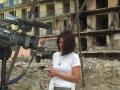 Reporting from Gori, Georgia, 2008