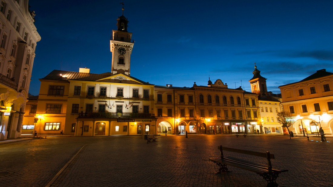 Cieszyn at night