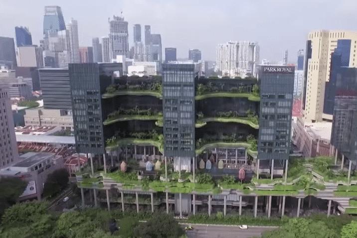 Σιγκαπούρη-πράσινα κτίρια
